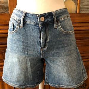 Pilcro and the Letterpress jean shorts